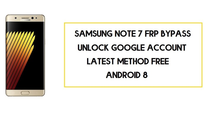 Samsung Note 7 FRP Bypass (Unlock SM-N930 Google Account) Android 8
