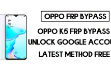 Oppo K5 FRP Bypass (Unlock Google Account) Android 10 | FRP Code