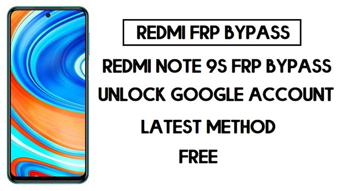 Xiaomi Redmi Note 9S FRP Bypass | Unlock Google Verification (MIUI 12)