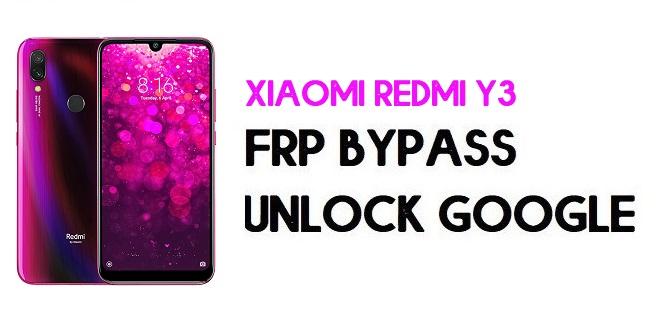 Xiaomi Redmi Y3 FRP Bypass | Unlock Google Verification (MIUI 12)