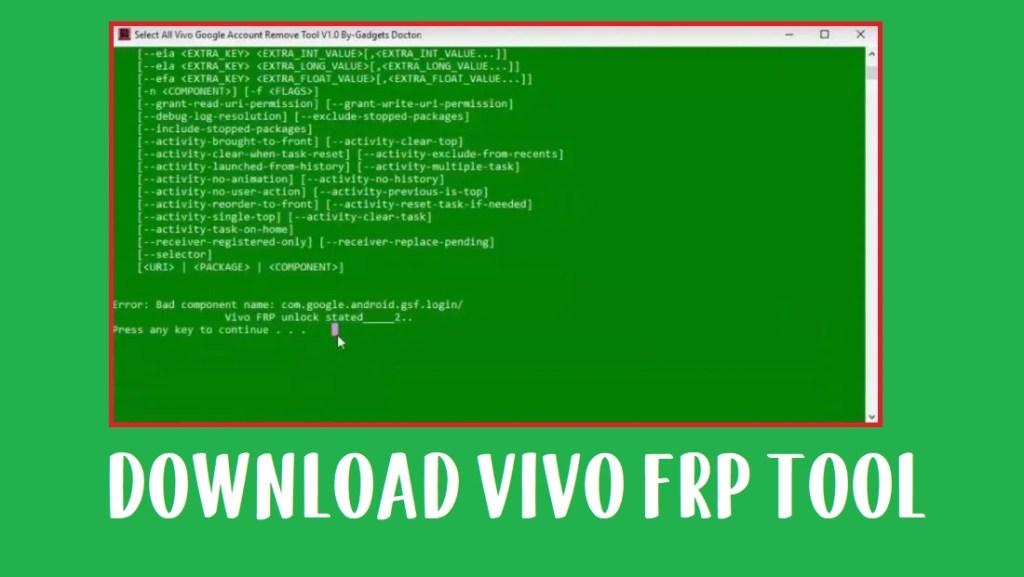 Vivo FRP Tool (2020) - All Vivo FRP Unlock Tool
