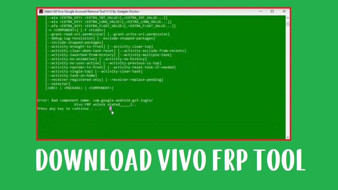 Vivo FRP Tool (2020) - All Vivo FRP Unlock Tool