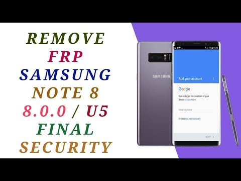 remove frp samsung note 8 google account  n950f u5 7