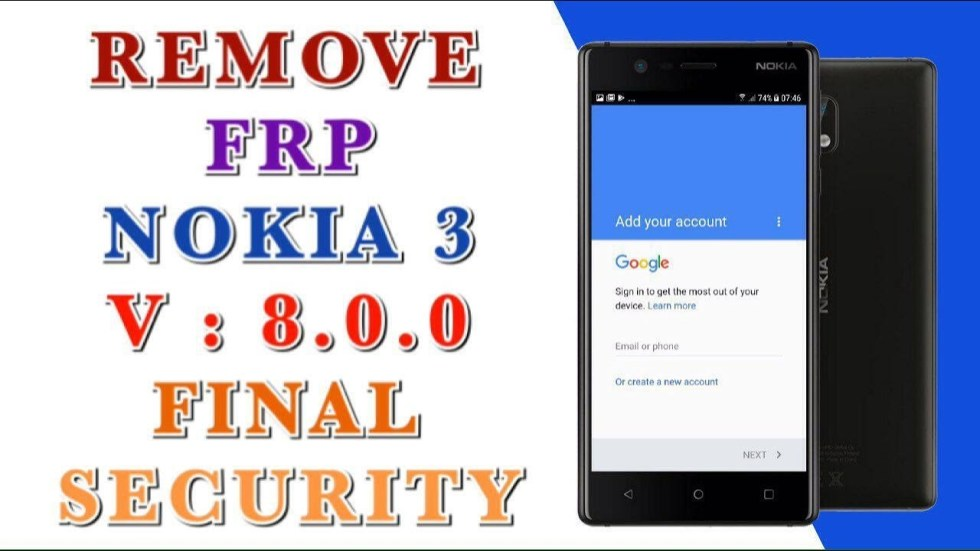 remove frp NOKIA 3 TA-1020 done bypass solved version 8 security