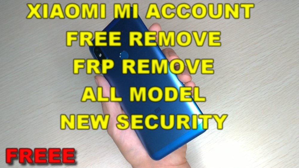 Xiaomi Unlock Mi Account FRP