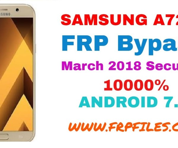 1000% How To Bypass Samsung SM-A720F FRP Google Account 1000% March 2018 Security Level