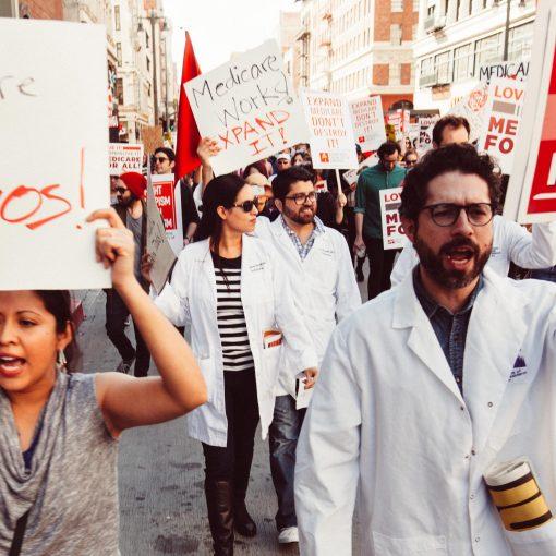 Medicare for All Rally — credit Molly Adams: https://www.flickr.com/photos/mollyswork/35372501572/
