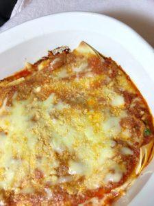Baked gluten free lasagna