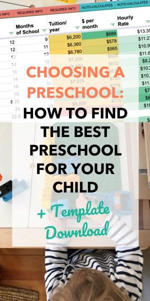Choosing a preschool