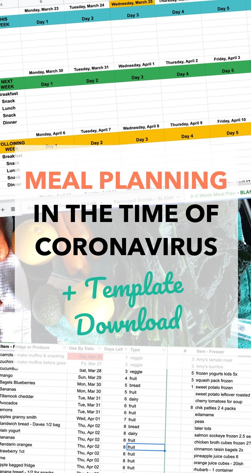 Meal Planning Coronavirus