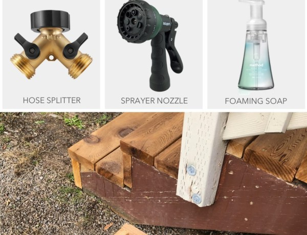 Outdoor Rinse Off Station DIY