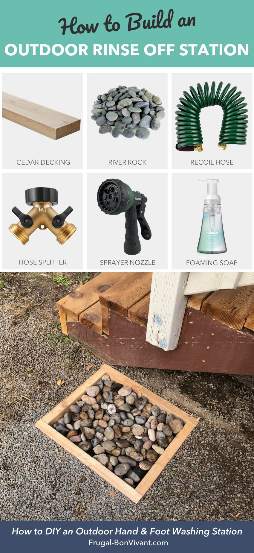 How to build an outdoor rinse off station DIY project