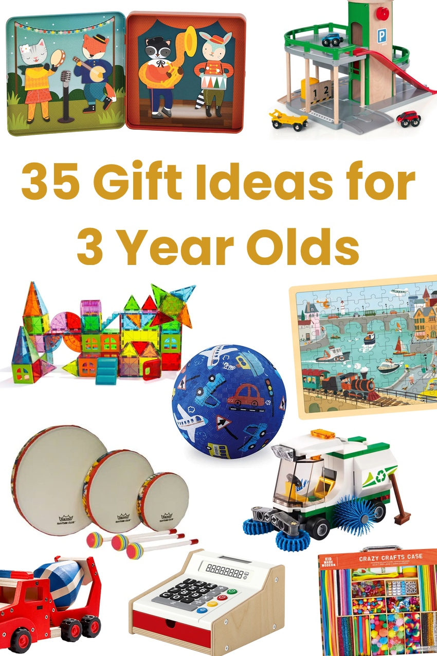 Gifts for 3 year olds - toys and not toys
