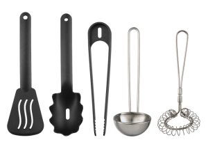 IKEA cooking utensils set for mud kitchen play