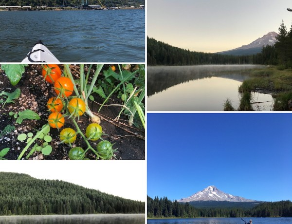 Trillium Lake Camping (kid-free camping!) and kayaking