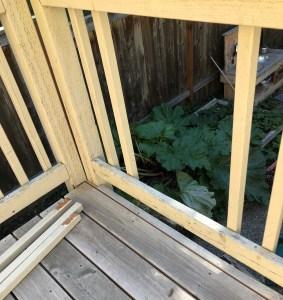 railing off deck slide