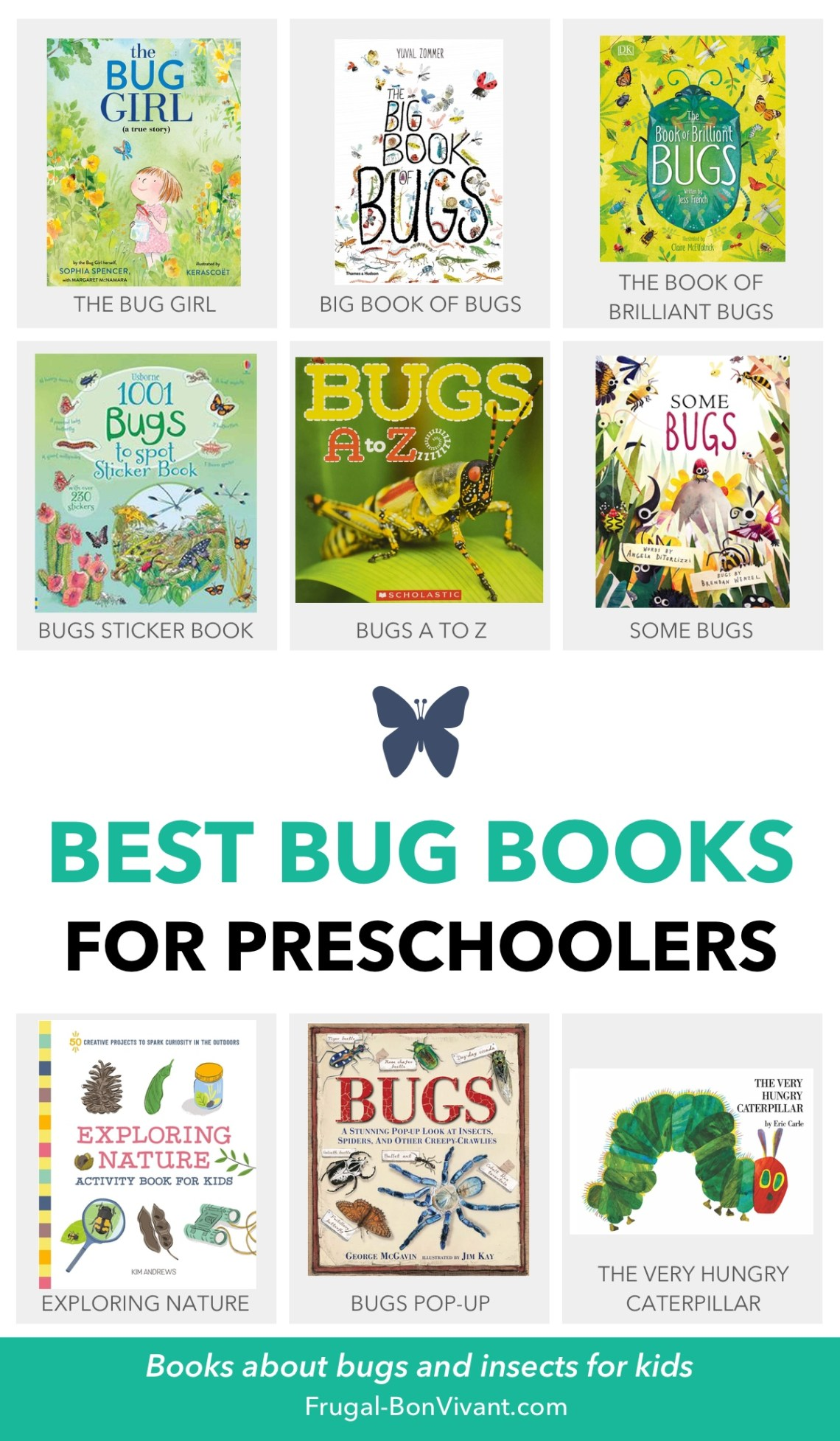 bug books for preschoolers, toddlers, kids