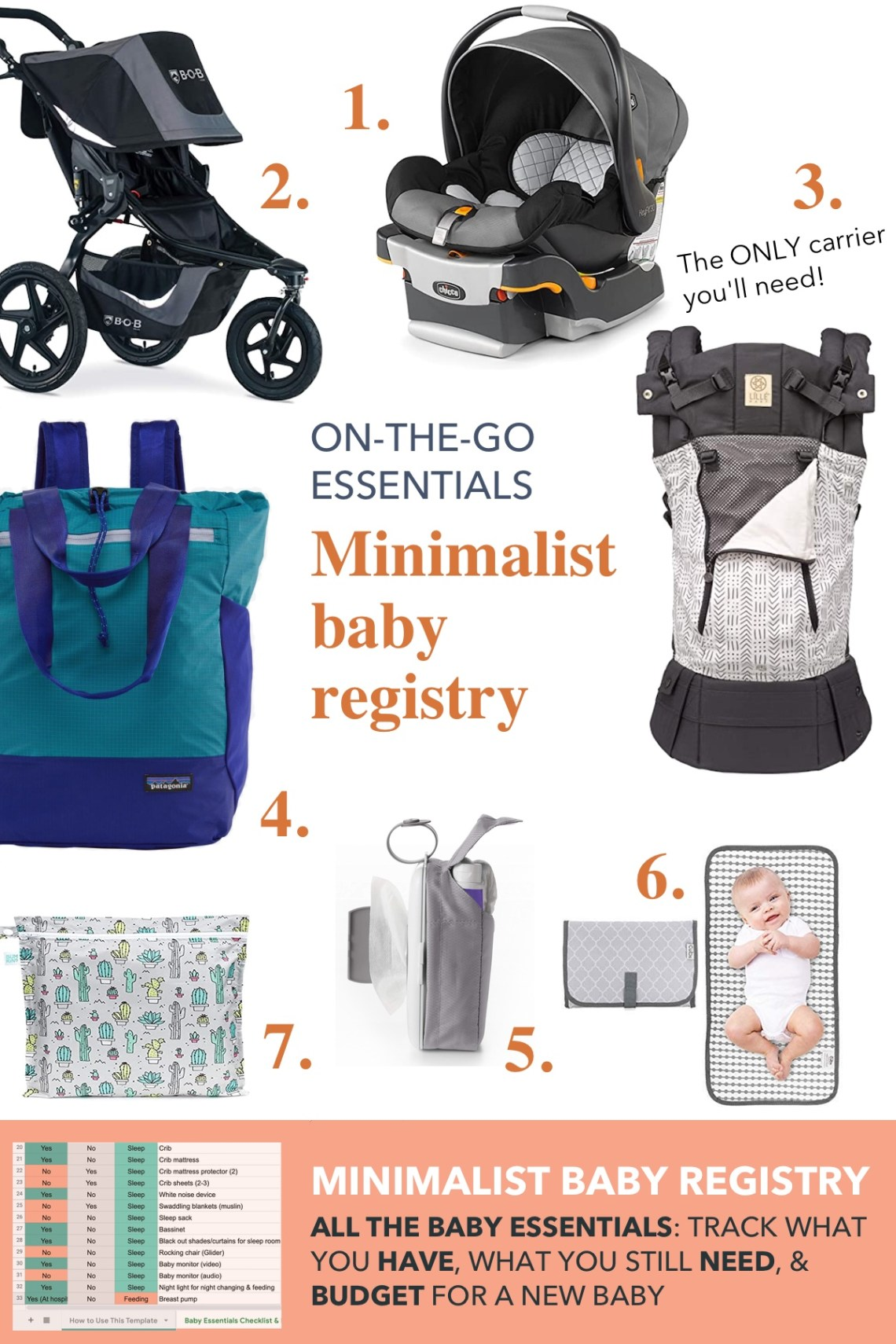 On the go baby essentials: strollers, car seats, baby wearing and diaper bag essentials