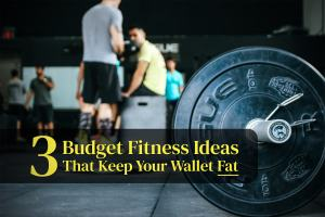 "A picture of a crowded gym with the post title - ""3 Fitness Ideas That Keeps Your Wallet Fat""."