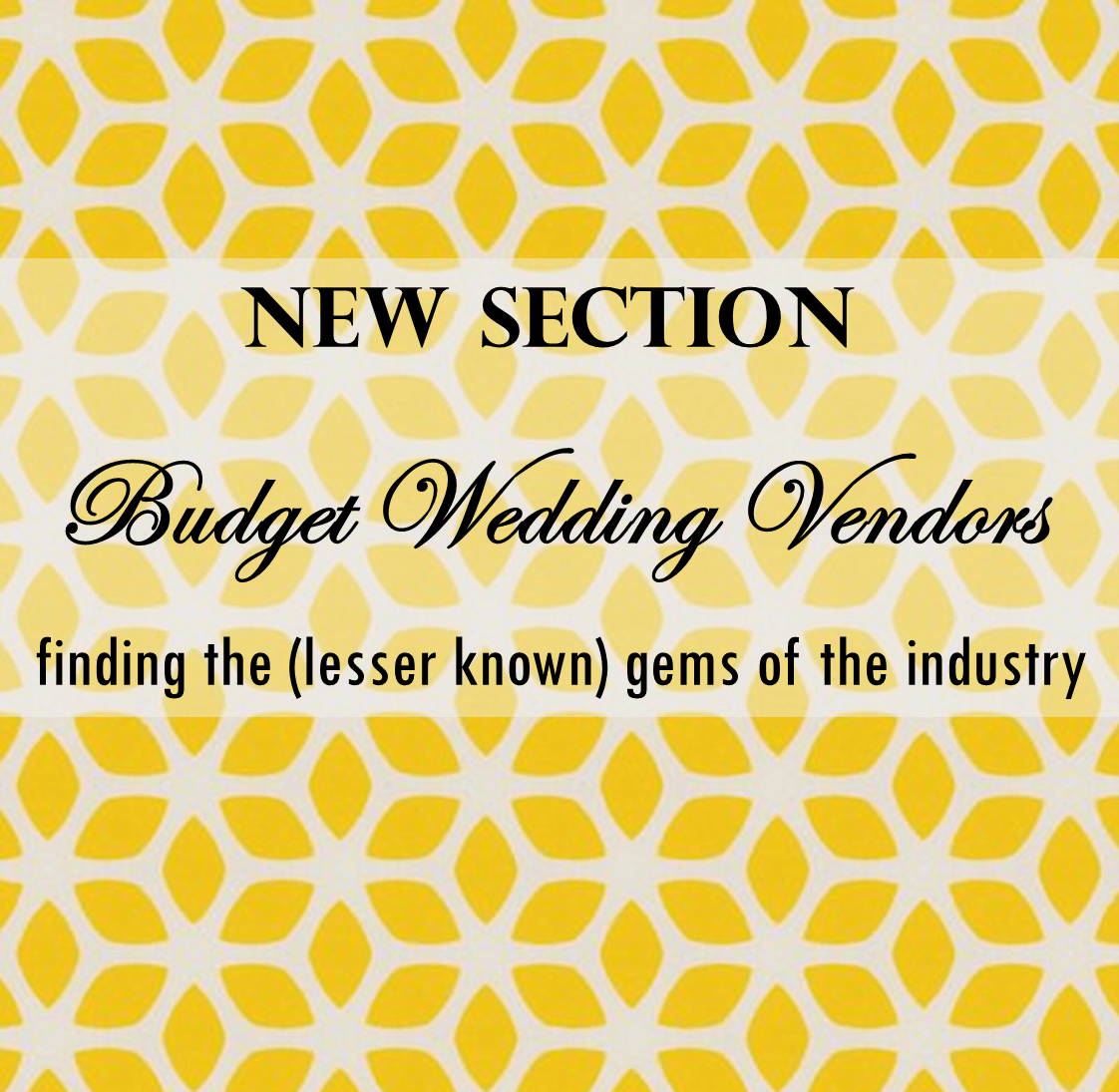 Budget Wedding Vendors