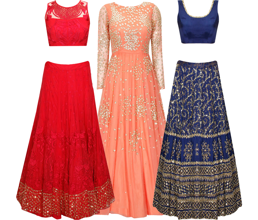 6ce5d4f6fbc0a 8 Reception Lehengas & Gowns under 50k by Astha Narang - Frugal2Fab