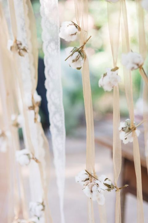 ribbons wedding decor
