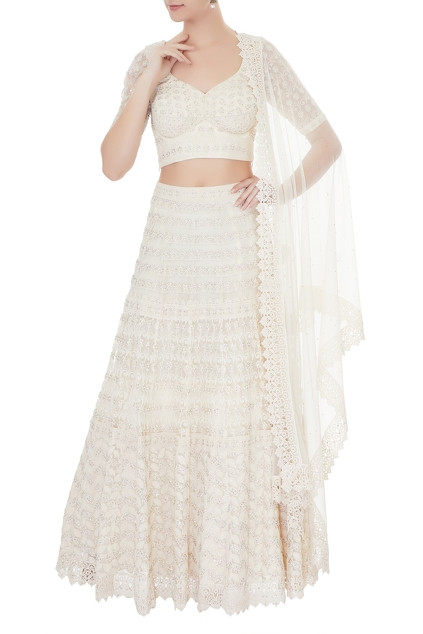 Best Ivory Lehengas Under 50k