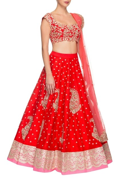 Red Rose Pink Lehenga