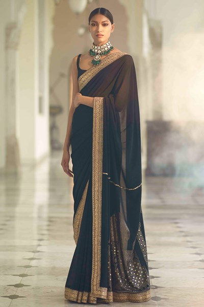 Black Sabyasachi Saree