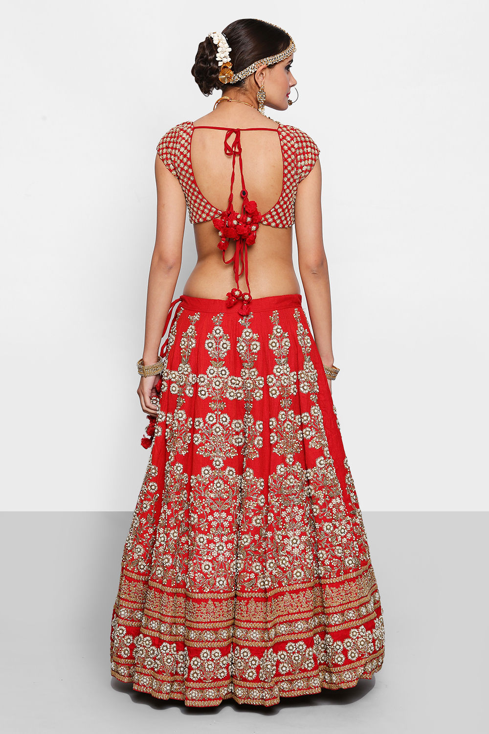 Red Embroidered Sabyasachi Lehenga