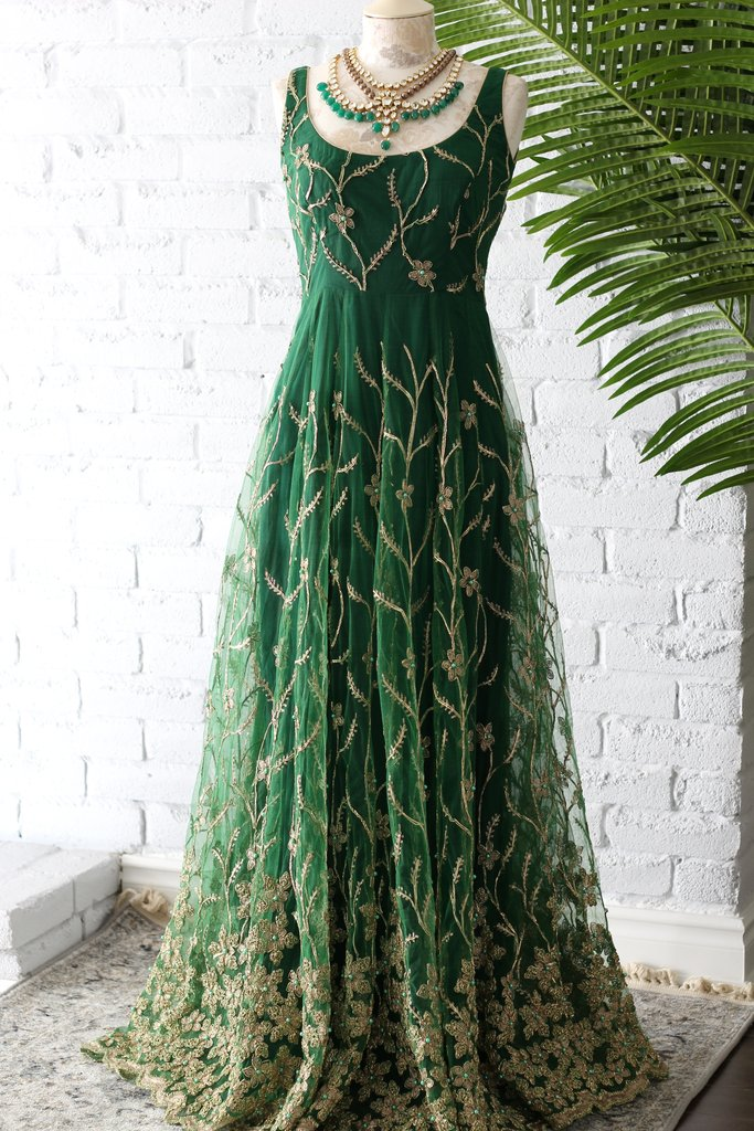 Green Valeria Gown Poppy Lane