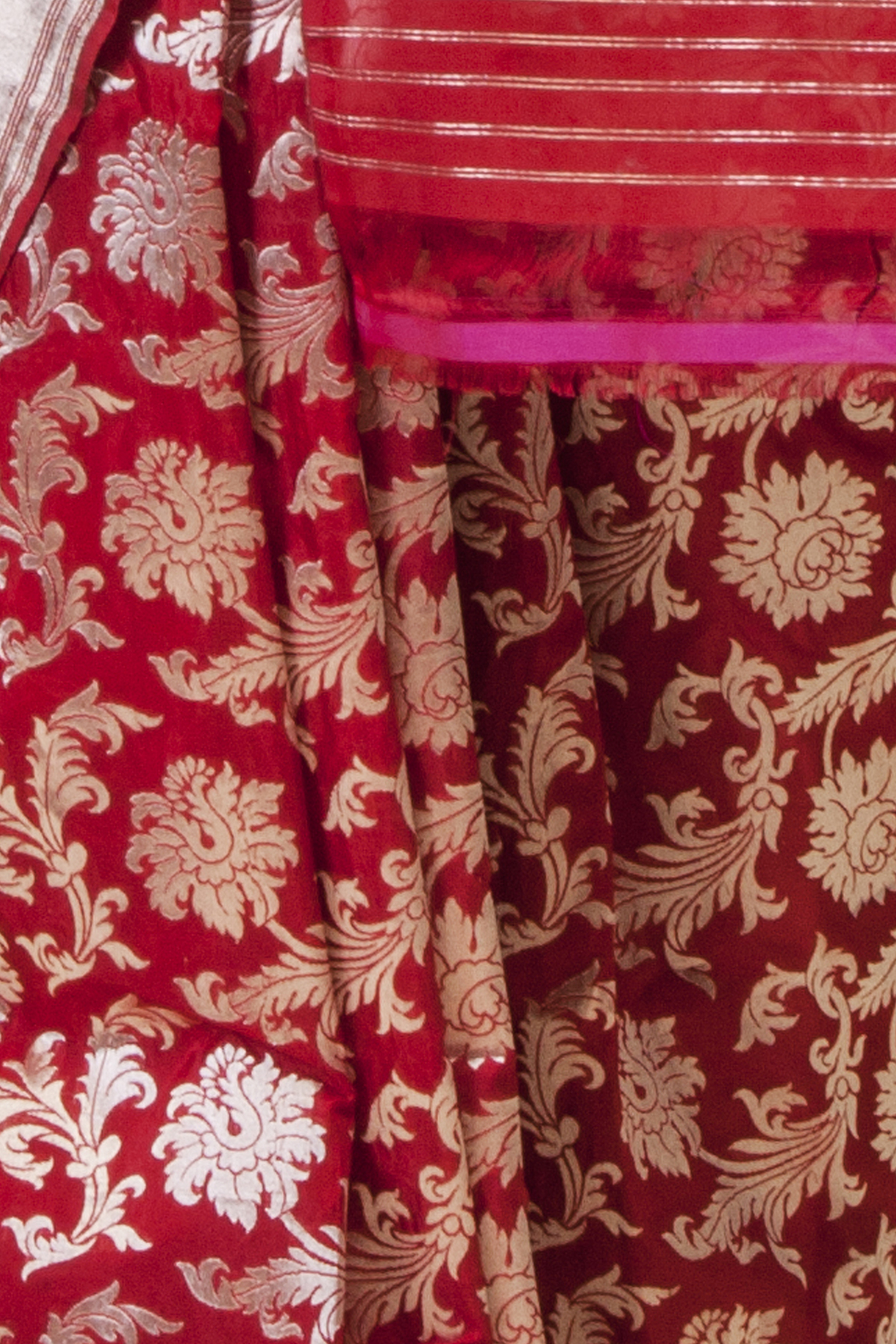 Handwoven Red Silk Sari Ekaaya