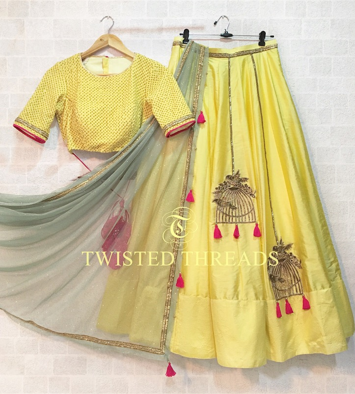 Yellow Lehenga Twisted Threads