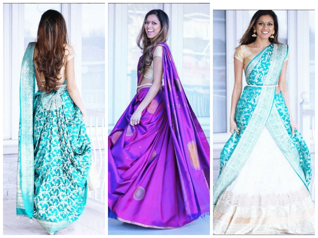 cde386d1c9 How To Reuse Your Old Saree As A Lehenga Dupatta - Frugal2Fab