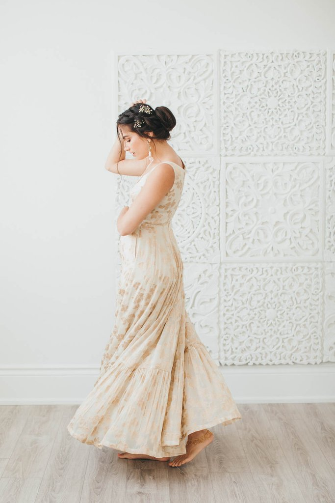 Beige Gold Poppy Lane Gown