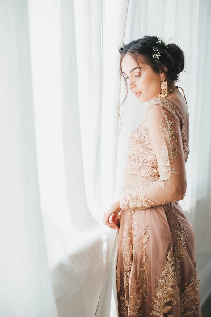 Rose Gold Poppy Lane Lehenga