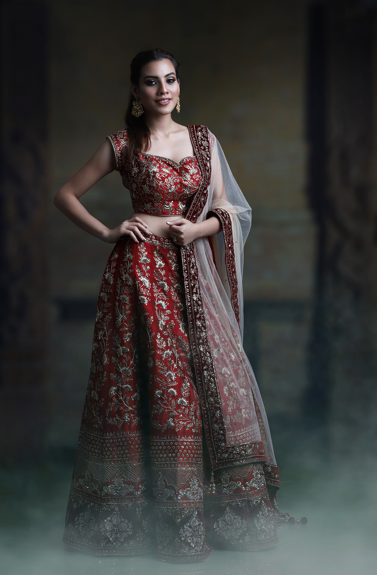 Red Veer Design Studio Bridal Lehenga