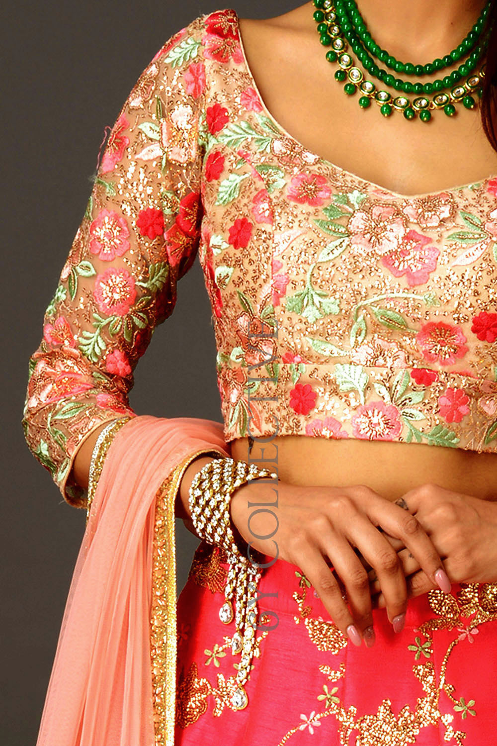 Hot Pink Sequins 6YCollective Lehenga