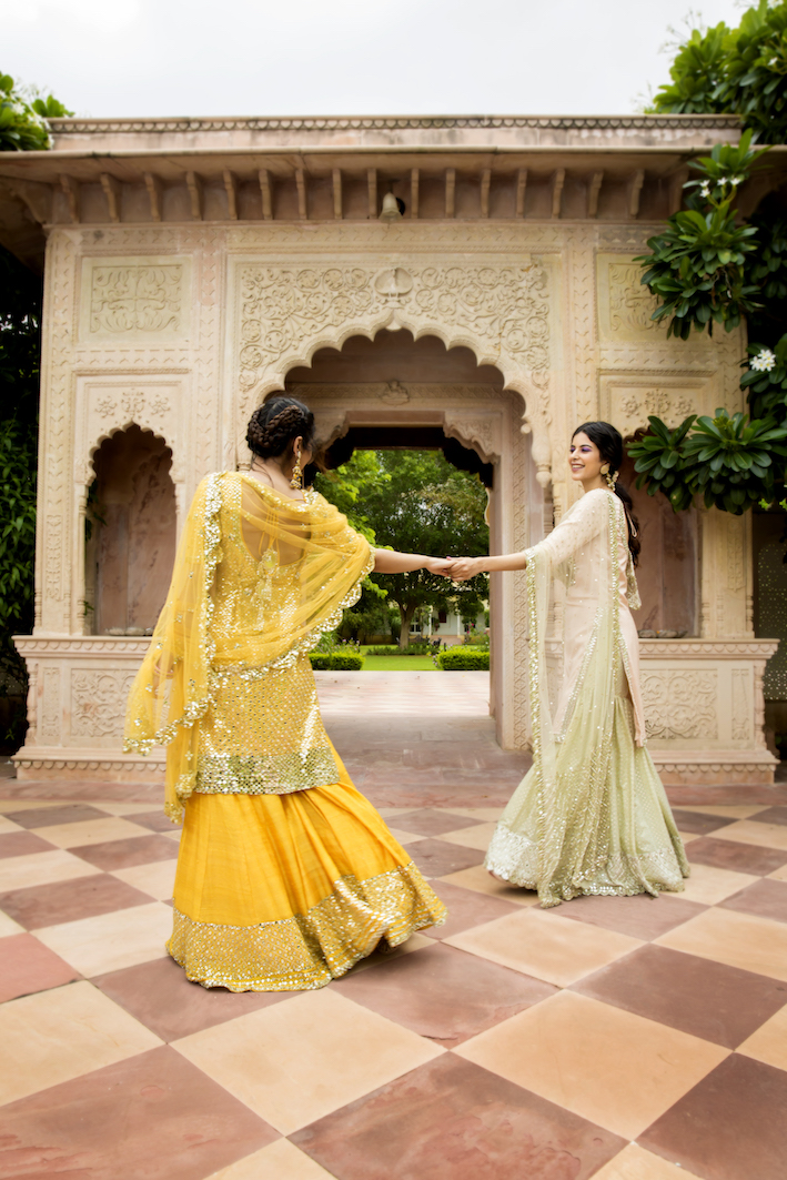 Mirror Work Lehengas