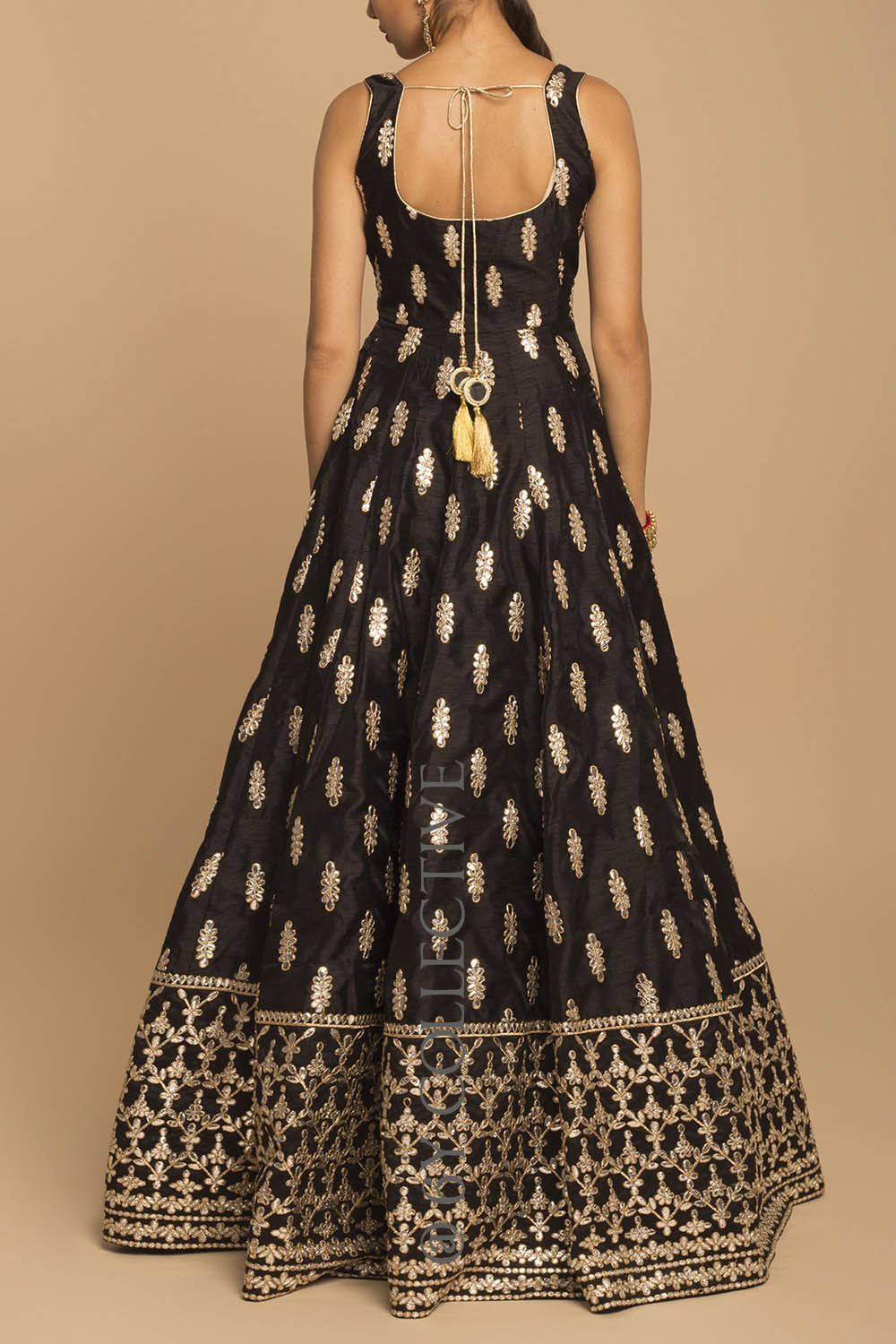 Black Gota Patti Anarkali