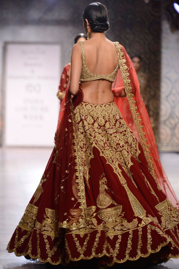 Rimple Harpreet Red Bridal Lehenga