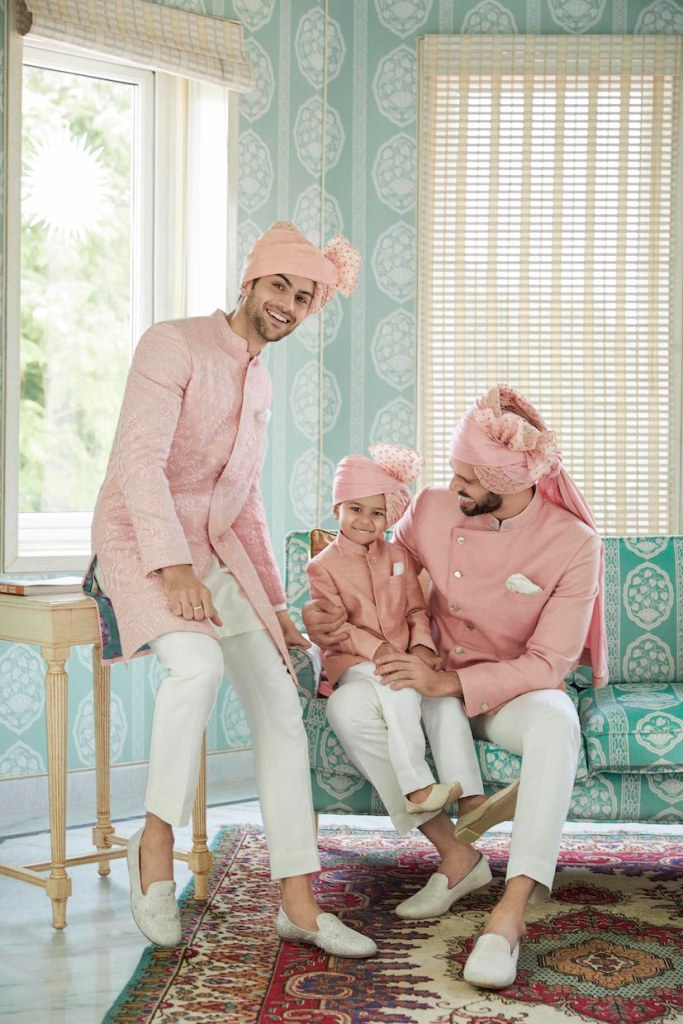 Baby Pink Wedding Sherwani