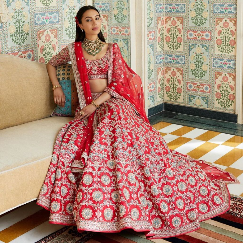 Anita Dongre New 2019 Red Bridal Lehengas