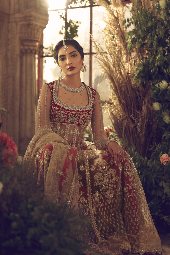 Bridal Net Kalidar Anarkali
