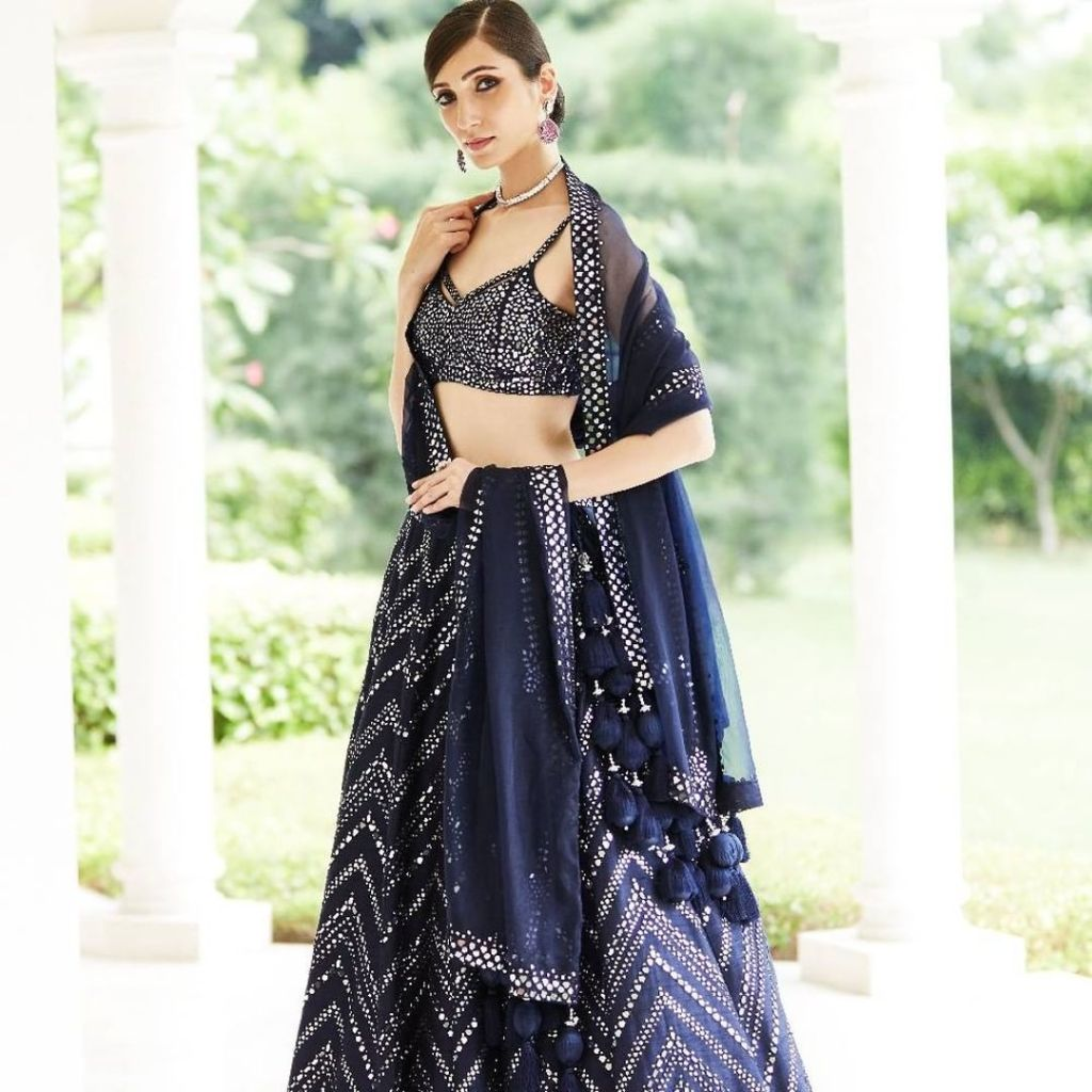 Seema Gujral Mirror Work Lehenga