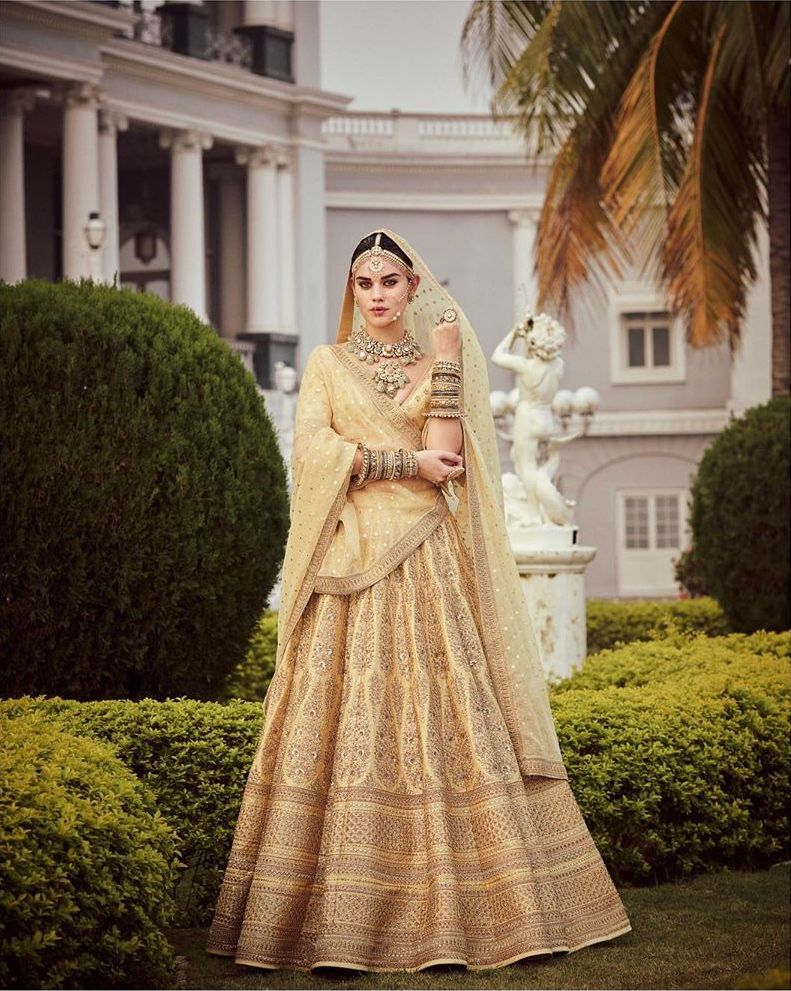 Gold summer bridal wear