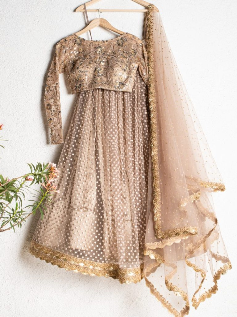 Reception Gold lehenga