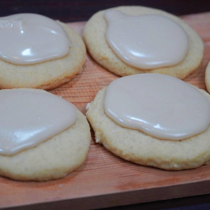 Amish Brown Sugar Cookies With Maple Glaze