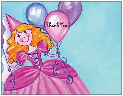 vista print princess thank you card
