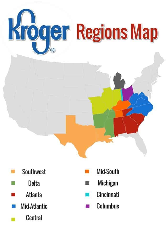 Kroger Region Map